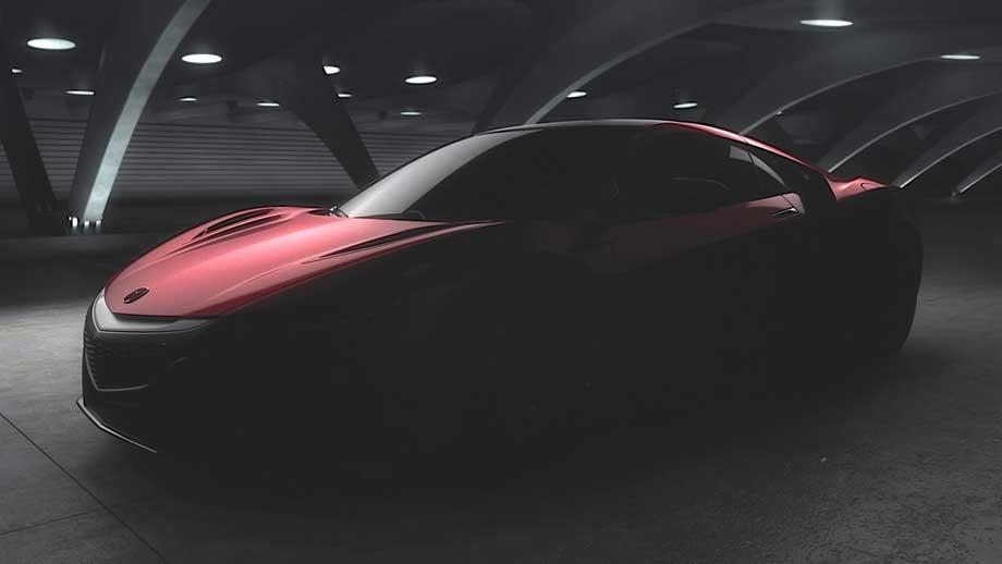 La nouvelle Acura NSX a une forme qui rappelle celle de la Ferrari 458 Italia ou celle de l'Audi. (Crédit photo : Acura)