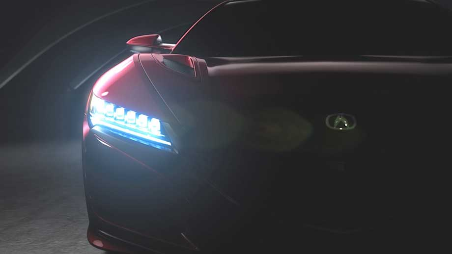 Les phares de la NSX incorporent des LEDs semblables à celles des autres modèles Acura récents. (Crédit photo : Acura)