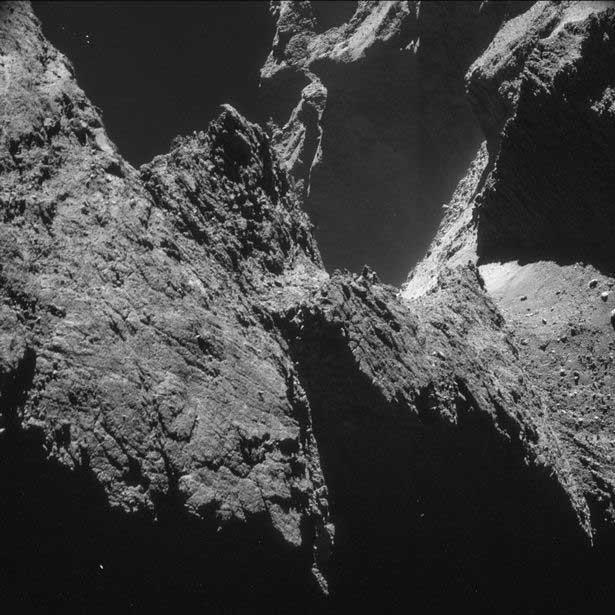 L'atterrisseur Philae sur la comète (Rex Features).