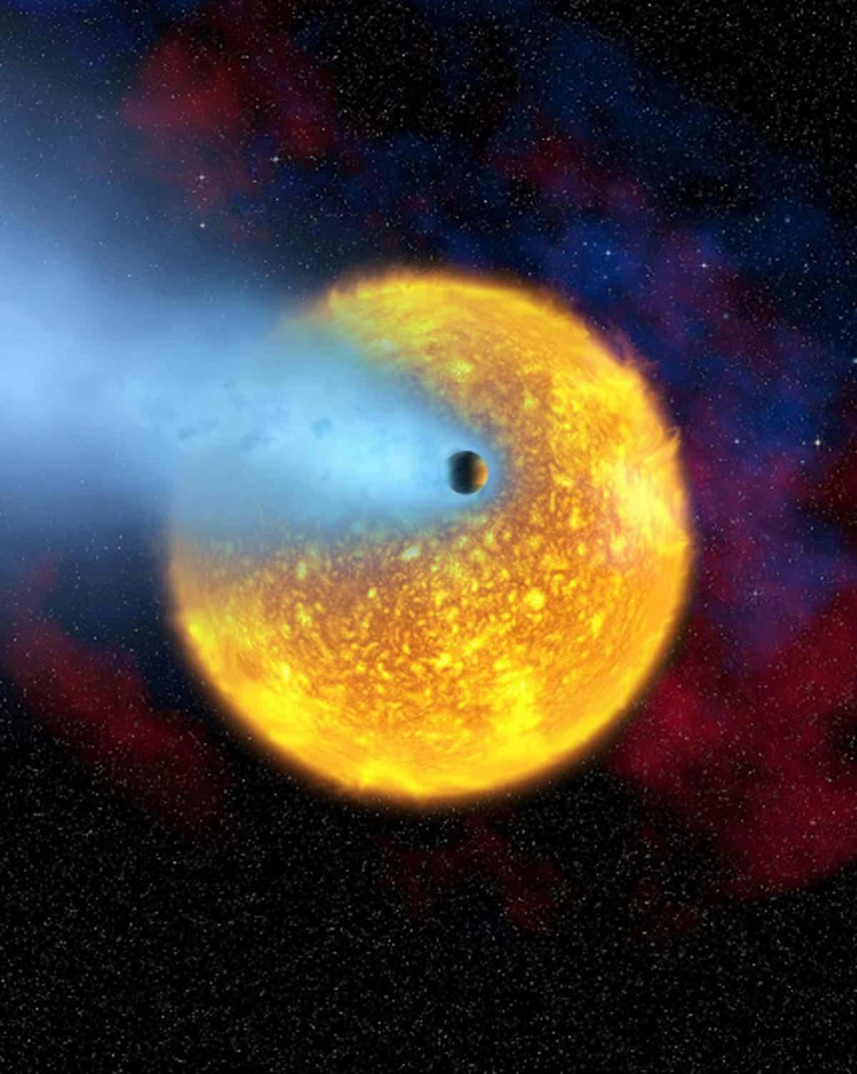 23. Image montrant l'évaporation d'une planète. (Photo : EPA/NASA/ESA/Hubble)