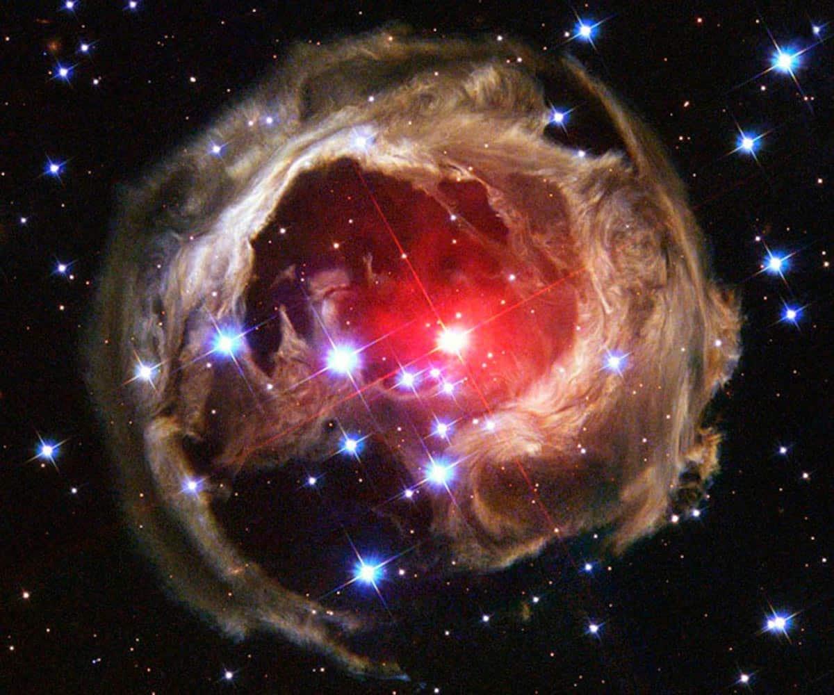 12. V838 Monocerotis a environ six années- lumière de diamètre. V838 Mon se trouve à environ 20 000 années-lumière de distance, vers la constellation de la Licorne. (Photo : REUTERS / NASA, ESA, H. E. Bond)