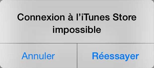 Apple : iTunes et l'App Store en panne