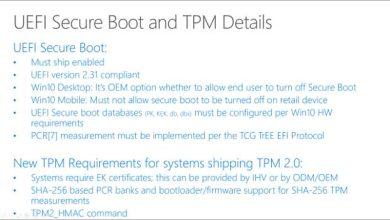 Windows 10 : un grand pas vers la fin de la désactivation de Secure Boot