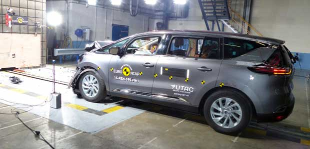 Renault Espace : 5 étoiles aux crash-tests