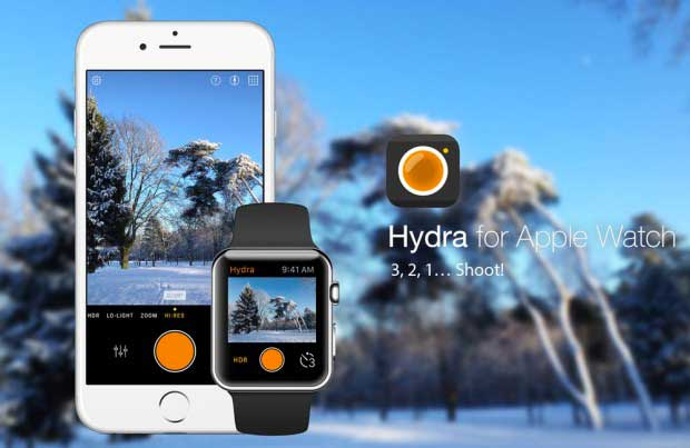 L'application Hydra parée pour l'Apple Watch