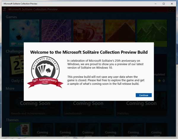 Windows 10 : le Solitaire est de retour en natif