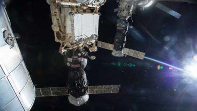 Un vaisseau Progress quitte l'ISS le 25 avril 2015.