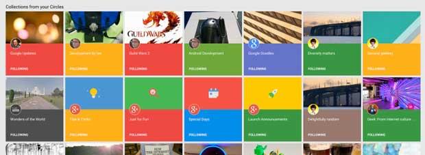 Google+ lance Collections, un concurrent de Pinterest