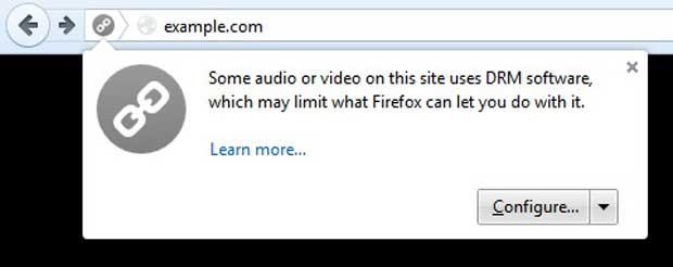 Firefox 38 repense la gestion des DRM et propose d'en retirer la prise en charge