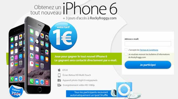 iPhone 6 à 1 euro : Attention aux arnaques !