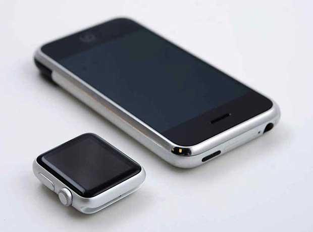 L'iPhone original et l'Apple Watch se ressemblent étrangement