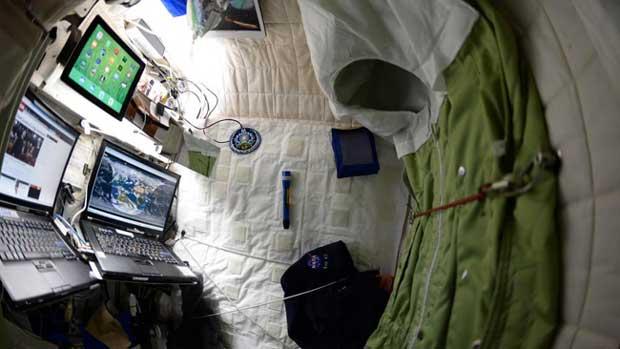 À quoi ressemble la chambre d'un astronaute ?