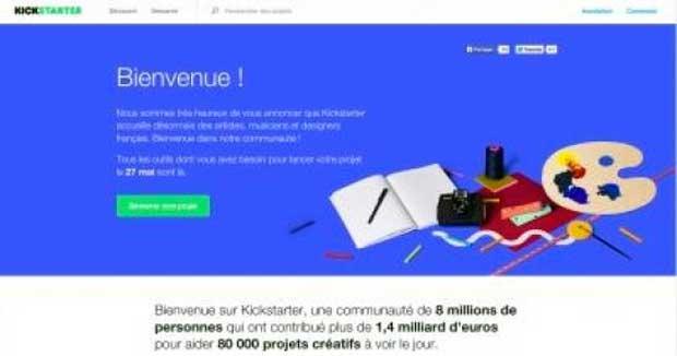 Kickstarter a dévoilé son site ce 11 mai, mais ne sera réellement disponible que le 27 mai.