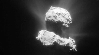 Comète Tchouri : des jets de poussière observés par Rosetta