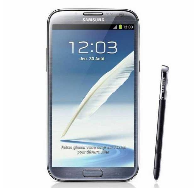 La Samsung Galaxy Note 2 privée d'Android Lollipop