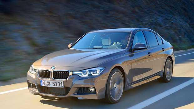 BMW Série 3 : les modifications esthétiques sont mineures et touchent les projecteurs et le bouclier.