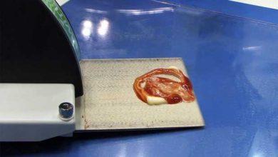 La machine qui ramasse la sauce sans changer sa forme