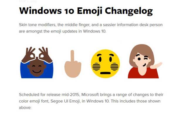 """Emoji """"doigt d'honneur"""": les geeks l'attendaient, Windows 10 le fait"""