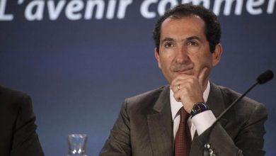 Patrick Drahi lors d'une conférence de presse à Paris, en avril 2014.