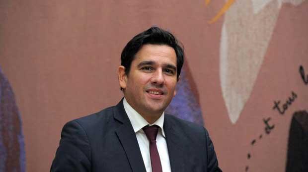 Sebastien Soriano, président de l'Arcep, le 13 janvier 2015 à Paris