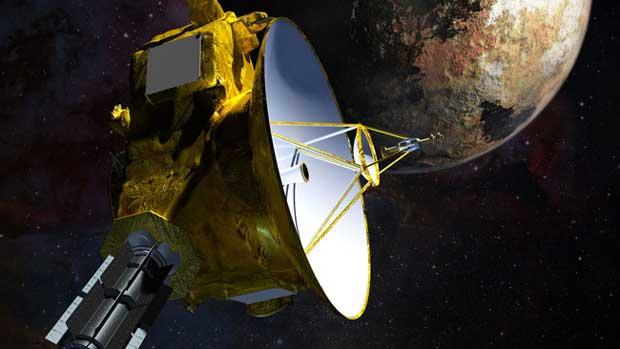 Représentation artistique de la sonde New Horizons.