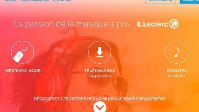 La plateforme Réglo Musique de E. LEclerc.