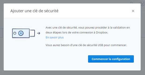 De la sécurité par clé USB en plus pour Dropbox