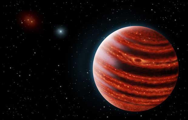 La jeune exoplanète 21 Eridani b (vue d'artiste).
