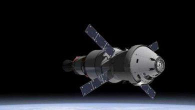 Vue d'artiste fournie par la Nasa montrant la capsule Orion.