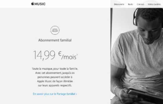 L'offre famille d'Apple Music est à ce jour la plus économique du marché.