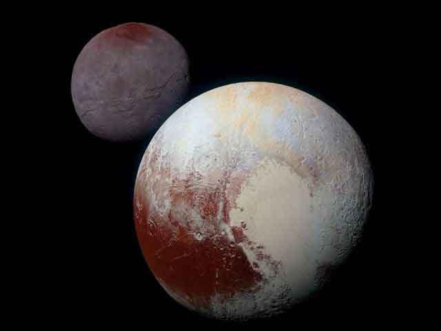 Pluton et sa lune Charon sont très différents, et cela malgré une formation en même temps. (NASA / JHUAPL / SwRI)
