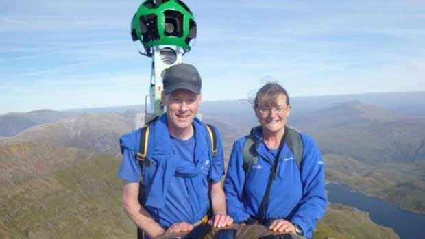 Volontaire au sommet du Mont Snowdon
