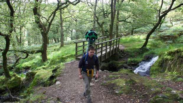 Volontaire de Google Street View dans le Parc National de Snowdonia
