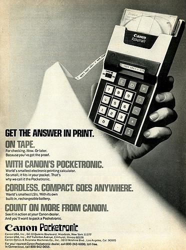 Canon Pocketronic Calculator
