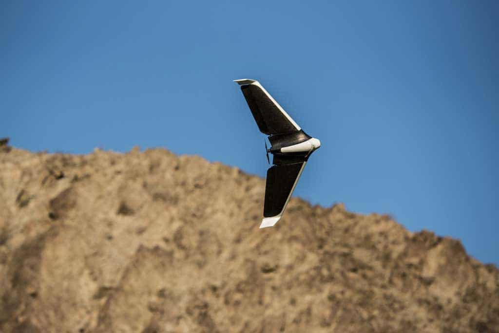 in-flight-flying-parrot-disco-drone