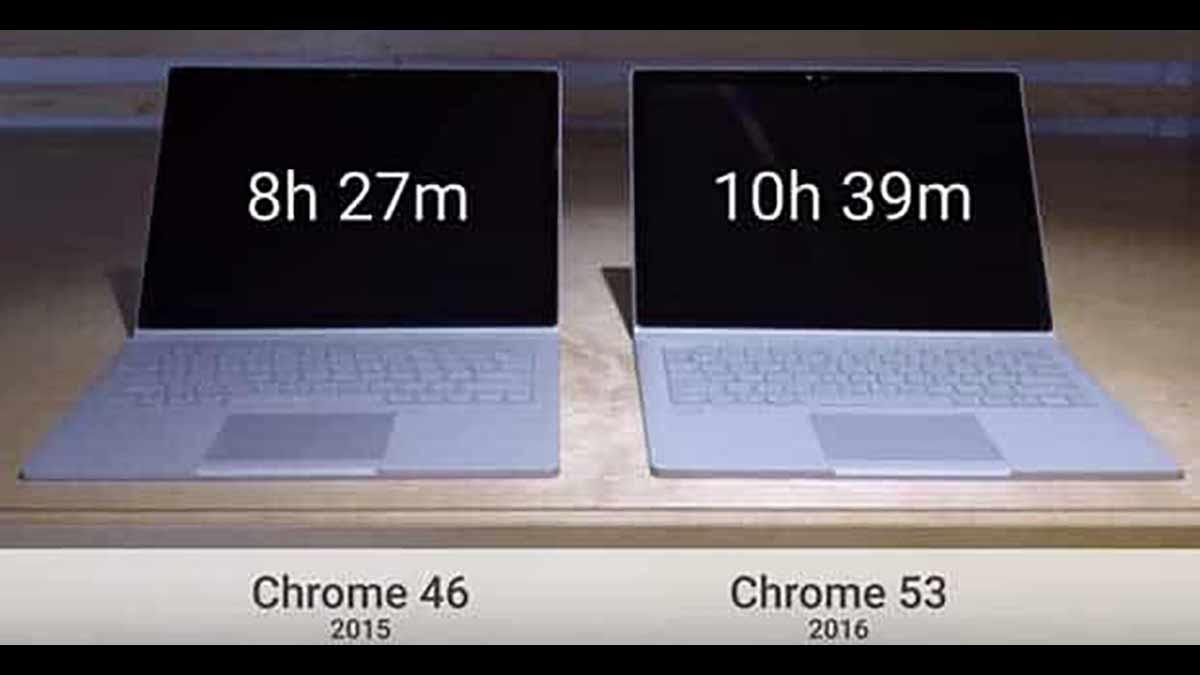C'est en lançant Chrome 53 que Google répond à Microsoft sur la question de la consommation