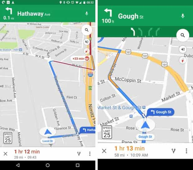 Google Maps : les limitations de vitesse font enfin leur apparition