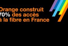 Orange construit 70% des accès à la fibre en France