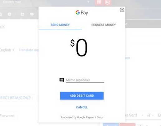 Demandez ou envoyez de l'argent dans un compte Gmail