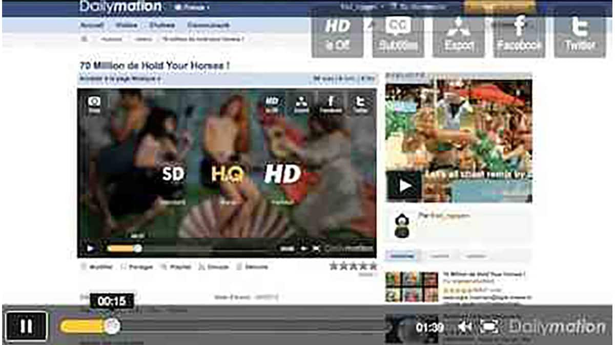 Dailymotion presente son lecteur video