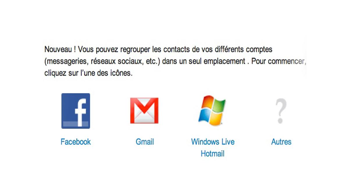 Yahoo regrouper les contacts