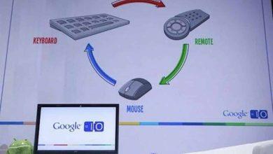Photo de Google TV présenté à la conférence de Google à San Francisco