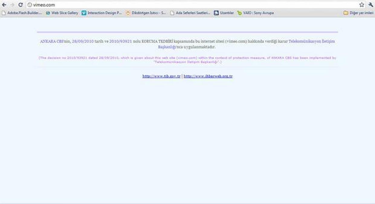Après Youtube, la Turquie bannit Vimeo