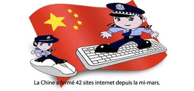 Censure : 42 sites fermés en Chine 1