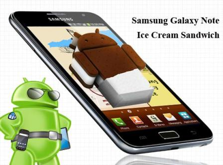 samsung mise a jour android ice cream sandwich galaxy note