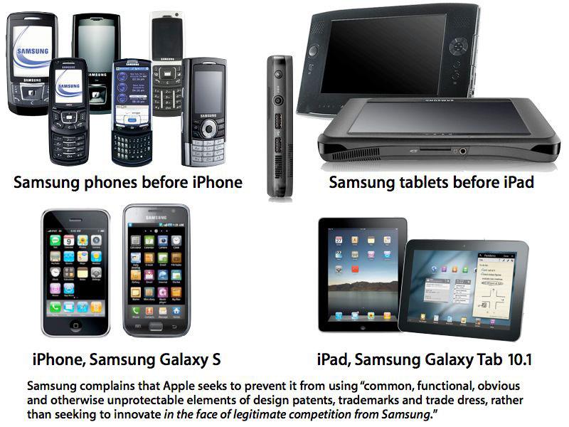 Apple accuse Samsung d'avoir copié son iPhone et son iPad