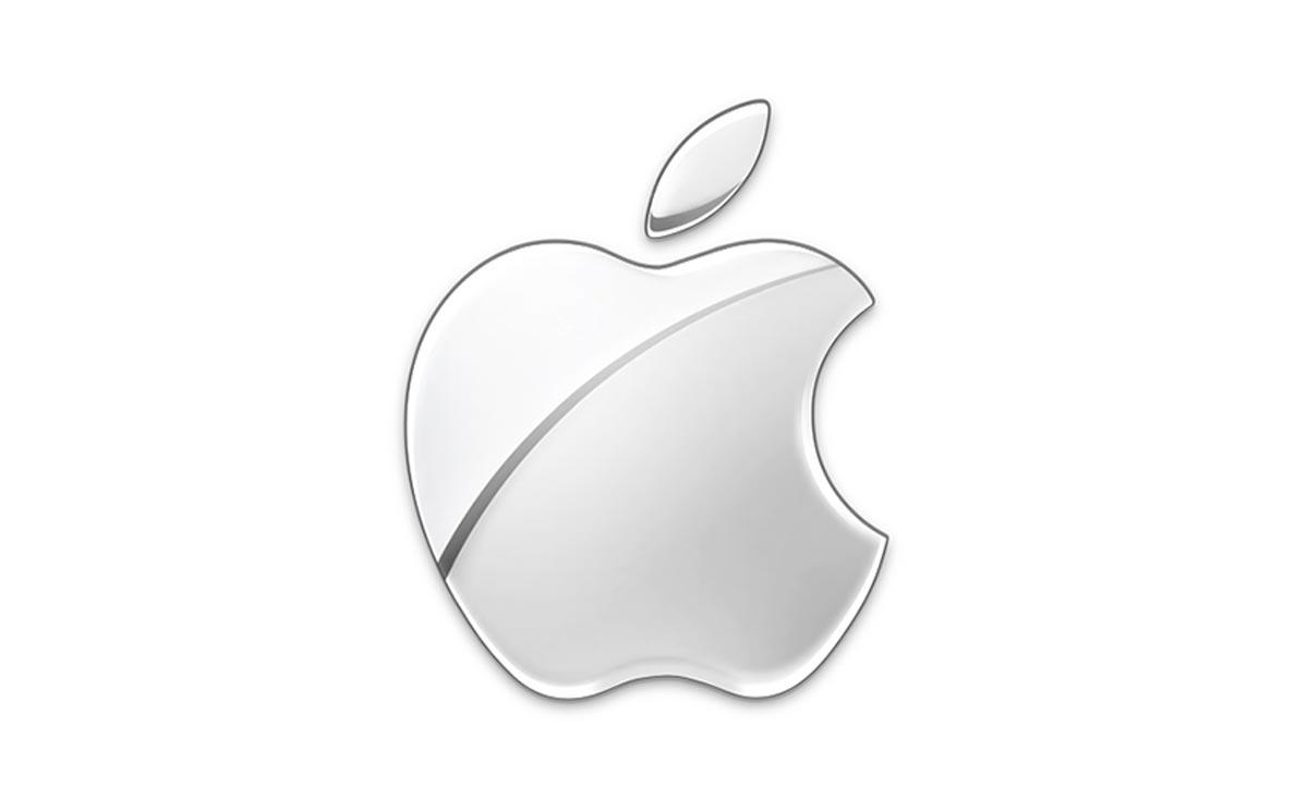 Logo Apple, couleur chrome