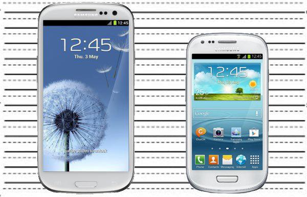 Comparaison Samsung Galaxy S3 mini Samsung Galaxy S3