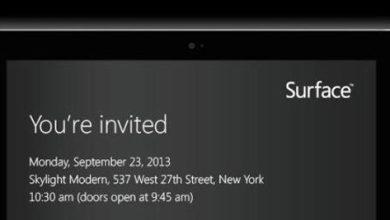 Photo of Microsoft : nouvelles tablettes « Surface » pour le 23 septembre ?