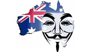 Photo de Anonymous : l'Australie cible d'attaques